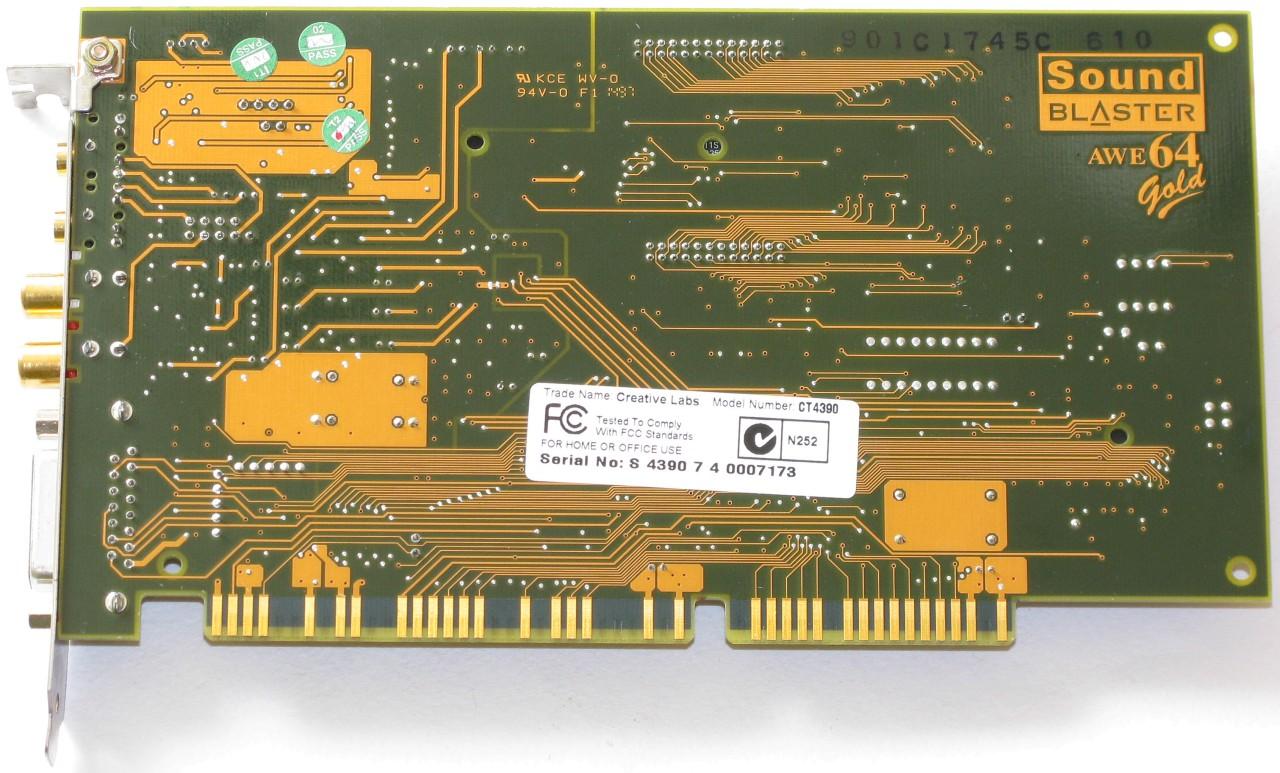 Creative Sound Blaster AWE64 Gold, CT4390 « Музей