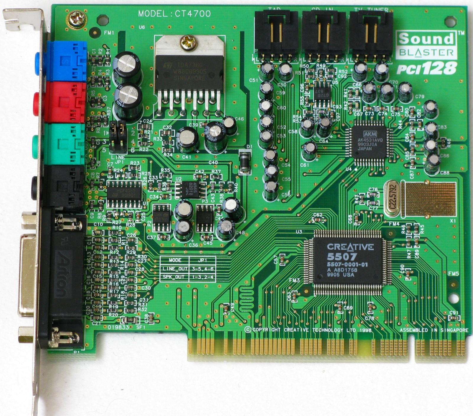 CREATIVE LABS PCI 128 CT4700 WINDOWS 8.1 DRIVER DOWNLOAD